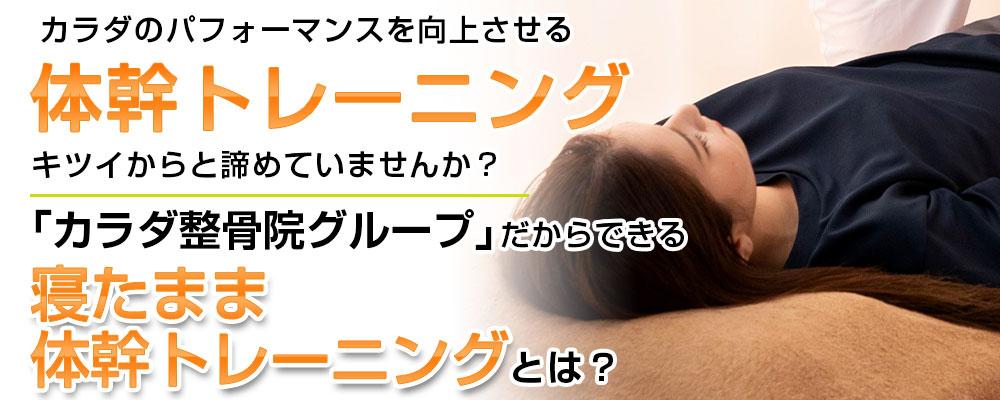 寝たまま体幹トレーニングTOP画像